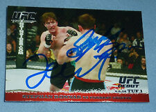 Stephan Bonnar Forrest Griffin Signed 2009 Topps Round 1 Rookie Card PSA/DNA UFC