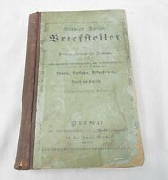 "ANTIQUE BOOK, IN ENGLISH AND GERMAN ""THE UNITED STATES LETTER WRITER"". 1887"
