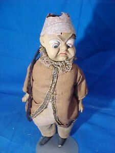 1890s PALMER COX BROWNIE Composition + Bisque CHINESE MAN DOLL