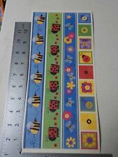 PEBBLES INC. FUNKY BUGS BORDERS BEES LADYBUGS STICKERS SCRAPBOOKING A3152