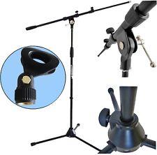 KEEPDRUM MS106 BK Mikrofonständer Mikrofonstativ mit Galgen + Mikrofonklemme
