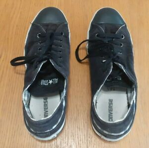 Men's Converse All Star Trainers, Black Cord and chequered, UK Size 10, 118638