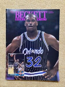 August 1993 Issue #37 Beckett Basketball Card Monthly Shaquille O'Neal