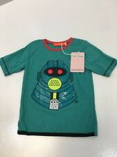 Fred & Ginger Toddler Boys Graphic T-shirt Teal Size EU:92/US:2T NWT
