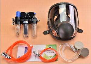 3 in1 Painting Safety Supplied Air Fed Respirator System 6800 Full Face Gas Mask