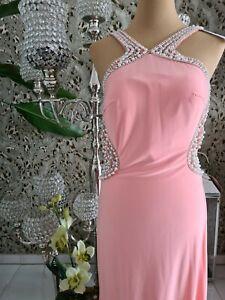 Luxuar Limited lachsfarbendes Kleid Abendkleid Maxikleid Gr. 40
