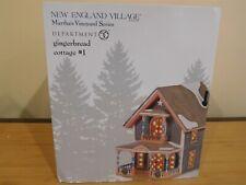 Dept 56 New England Village - Martha's Vineyard - Gingerbread Cottage #1 - Nib