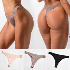 Women Sexy Ice Silk Lingerie G-String Cotton Thongs Briefs Underwear Panties