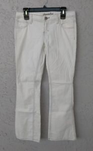 New AEO AMERICAN EAGLE OUTFITTERS Bootcut Corduroy Jeans Sz 4 100% Cotton White
