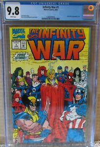 INFINITY WAR #1 CGC 9.8 AVENGERS, X-MEN, GUARDIANS of the GALAXY & MORE!