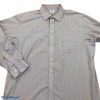 Brooks Brothers Classic Mens Dress Shirt Multicolor Plaid Cotton 17 1/2 - 36