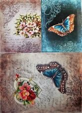 Rice Paper for Decoupage  Scrapbook Craft  butterfly flowers heart  73