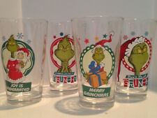 Four Dr. Suess 'Grinch Stole Christmas' Glass Tumblers