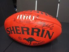 Brisbane : Simon Black (Brownlow Winner) signed Red Sherrin Football -Kangaroo
