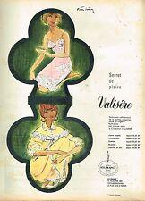 F- Publicité Advertising 1961 Lingerie Combinaison Nuisette Valisère