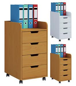 """VCM® Rollcontainer """"Konal Mini"""" · 2 Farben · Kommode Rollwagen Bürocontainer"""