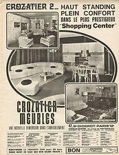 Publicité Advertising 1970  CROZATIER MEUBLES salon salle à manger ...