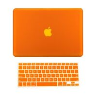 "2 in 1 Rubberized ORANGE Hard Case for Macbook PRO 15"" A1286 with Keyboard Cover"