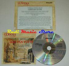 CD MOZART Cosi fan tutte CABALLE BAKER COTRUBAS GEDDA grandi opera lp mc dvd