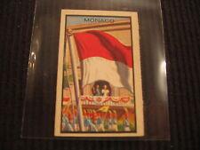 1963 TOPPS MIDGEE #58 MONACO *MINI FLAG* CARD  VERY UNIQUE !