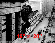 "Harold Lloyd~Safety Last~Clock~Silent Film Comedian~Photo~Poster 16"" x  20"""