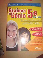 JEU PC GRAINE DE GENIE 5EME 12/13 ANS MAGNARD NEUF  - PENSEZ OFFRE DE PRIX