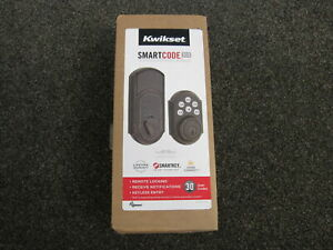NEW Kwikset SmartCode 910 Touchpad Keyless Entry Deadbolt Z-Wave Smartkey Bronze