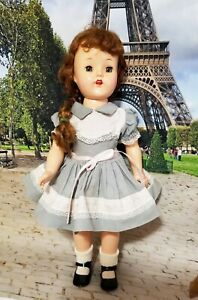 "16"" SAUCY WALKER LOOKALIKE. IN  IDEAL ORIGINAL GREY AND PINK DRESS~SHOES"