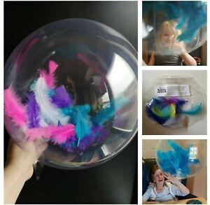 Sensory Decoration Gift Balloon - FEATHER Fill Bubble - Dementia SEN Autism ADHD