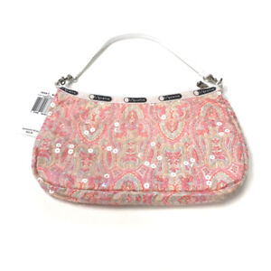 LeSportsac Sequin Paisley Clutch