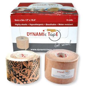 Dynamic Tape - 5cm x 5m - size Tattoo Tan / TATTOO BLACK FREE UK POSTAGE