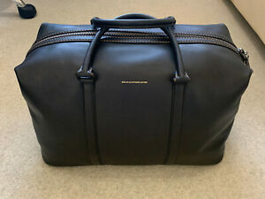 COACH METROPOLITAN DUFFLE Leather Black Black Copper Weekend Bag Travel