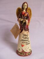 Carson Home Accents ~ Honor the Past and Keep Memories Close Angel Figurine (K6)