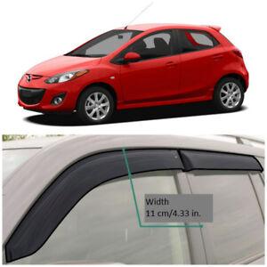 ME20108 Window Visors Sun Guard Vent Wide Deflectors For Mazda 2 II Hb 2008-2014