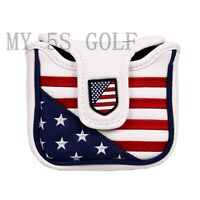 Golf Putter Cover USA Stars&Stripes Mallet Square Cover for Scotty Cameron