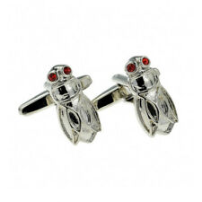 eedbbe6dfc03 Fly insect with red crystal eyes cufflinks buttons groom wedding fathers day