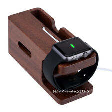 Wood Charging Dock Station Charger Holder Stand For Apple Watch iWatch iPhone 8