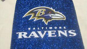 2 NFL Baltimore Ravens Longneck Beer Bottle Koozie Holder Cooler Blue Bling New
