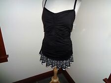 NEW Black White Swim Dress Swimsuit One Piece Size 22W 24 & Ocean
