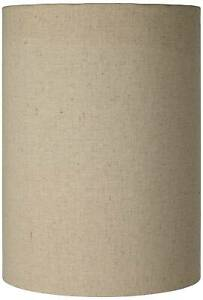 """Lamp Shade Cotton Blend Tan Small Cylinder 8""""W x 11""""H (Spider) Replacement"""