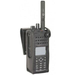 "Motorola Hard Leather 3"" Swivel Belt Loop Carry Case DP4601e DP4800e DP4801e"