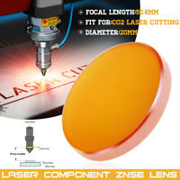 ZnSe Focal Lens Focus For CO2 Laser Engraving Cutting Dia 20mm FL 50.8mm W/ Box