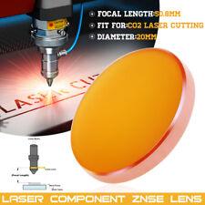 Dia 20mm FL 50.8mm ZnSe Focal Lens Focus For CO2 Laser Engraving Cutter Machine