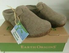 MSRP $60.00 Women's Earth Origins Felt Shoe Slip-On Clogs Jenna Oatmeal