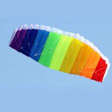 Rainbow Sports Beach Kite Power Dual Line Stunt Parafoil Parachute New Arrival