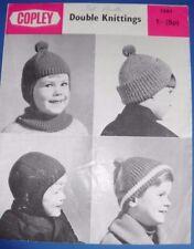 Copley Boy's Helmets & cap Knitting pattern 1261