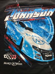 "NHRA DRAG RACING ""FUNNY CAR CHAMP"" TOMMY JOHNSON JR. T- SHIRT  SIZE 3X"