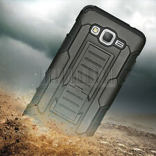 For Samsung Galaxy Grand Prime G530 Hybrid Holster Kickstand Belt Clip Hard Case