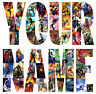 SUPERHEROES COMIC STRIP LETTER NAME STICKERS WALL DECO DECAL 3 SIZES lot SH