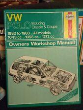 HAYNES MANUAL no.813  VW Polo 1982-83; Very Good Used